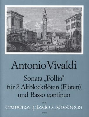 VIVALDI - Sonata Follia -2 Altblockflöten Flöten BC - Partition - di-arezzo.fr
