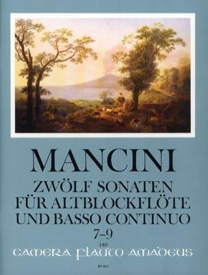 Francesco Mancini - 12 Sonaten - Nr. 7-9 - Altblockflöte u. Bc - Sheet Music - di-arezzo.co.uk