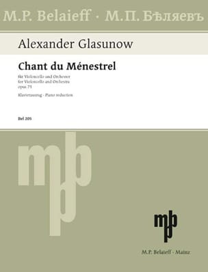 Alexandre Glazounov - Song of the Menestrel op. 71 - Sheet Music - di-arezzo.co.uk