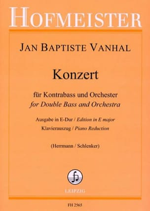 Johann Baptist Vanhal - Konzert in E Dur - Kontrabass - Sheet Music - di-arezzo.com