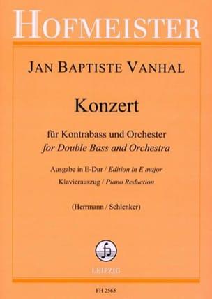 Johann Baptist Vanhal - Konzert in E Dur – Kontrabass - Partition - di-arezzo.fr