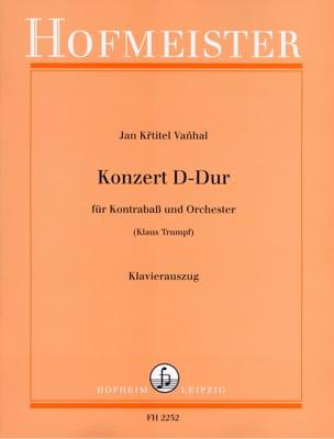 Johann Baptist Vanhal - Konzert D Hard - Kontrabass - Sheet Music - di-arezzo.co.uk