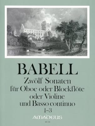 12 Sonates Volume 1 - 1 à 3 - Hautbois et Bc laflutedepan
