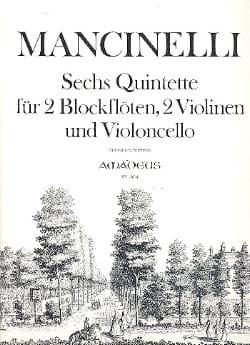 Domenico Mancinelli - 6 Quintette -2 Blockflöten 2 Violinen Cello - Partitur + Stimmen - Partition - di-arezzo.fr