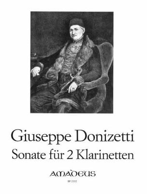 Gaetano Donizetti - Sonate - 2 Klarinetten - Partition - di-arezzo.fr