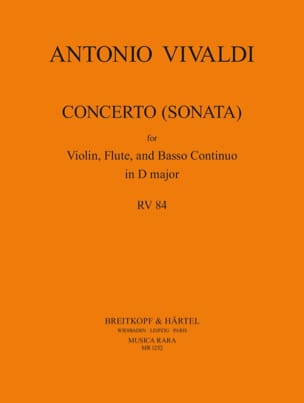 Antonio Vivaldi - Concerto (Sonata) D major F. 12 N° 43 (RV 84) - Partition - di-arezzo.fr