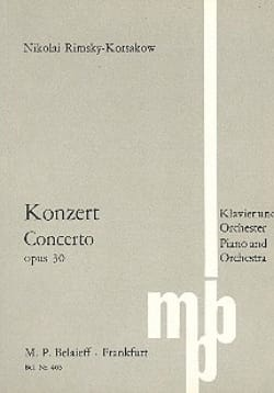 Konzert für Klavier op. 30 - Partitur RIMSKY-KORSAKOV laflutedepan
