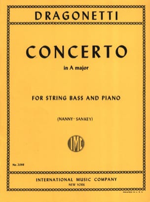 Domenico Dragonetti - Concerto in A major – String bass - Partition - di-arezzo.fr
