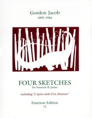 4 Sketches Gordon Jacob Partition Basson - laflutedepan