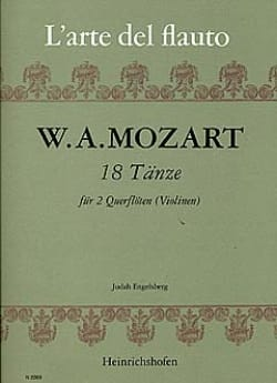 Wolfgang Amadeus Mozart - 18 Tänze – 2 Flöten (Violinen) - Partition - di-arezzo.fr