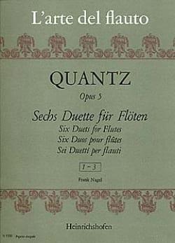 Johann Joachim Quantz - 6 Duette op. 5 - Heft 1 – 2 Flöten - Partition - di-arezzo.fr