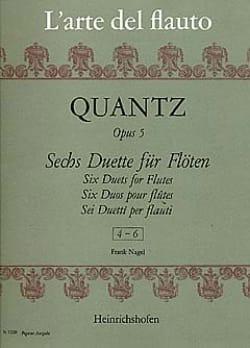 Johann Joachim Quantz - 6 Duette op. 5, Nr. 4-6 - 2 Flöten - Partition - di-arezzo.fr