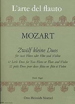 MOZART - 12 Kleine Duos – 2 Flöten (o. Flöte und Violine) - Partition - di-arezzo.fr