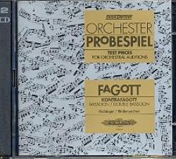 Kolbinger Karl / Rinderspacher Alfred - Orchester-Probespiel - Fagott / Kontrafagott - Partitura - di-arezzo.es