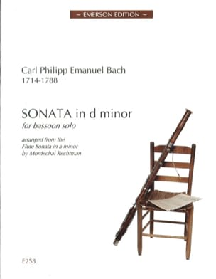 Carl Philipp Emanuel Bach - Sonata in d minor - Bassoon Solo - Sheet Music - di-arezzo.com