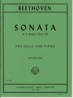 BEETHOVEN - Sonata in A Major op. 69 - Partition - di-arezzo.fr