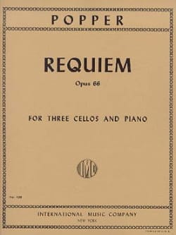 Requiem op. 66 - 3 Cellos Piano - Parts David Popper laflutedepan