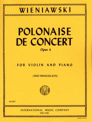 WIENIAWSKI - Polish Concert Op. 4 In Re Major - Sheet Music - di-arezzo.co.uk