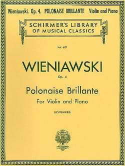 WIENIAWSKI - Polish brilliant op. 4 - Sheet Music - di-arezzo.co.uk
