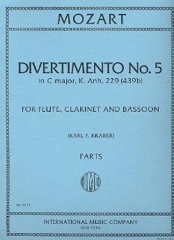 Divertimento n° 5 KV 439b in C major -Parts MOZART laflutedepan