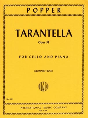 David Popper - Tarantella op. 33 - Sheet Music - di-arezzo.com