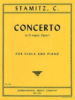 Concerto in D major op. 1 - Viola Meyer STAMITZ Partition laflutedepan