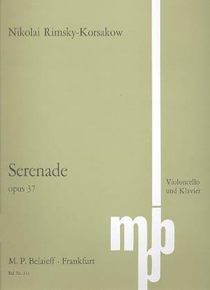 Nicolaï Rimsky-Korsakov - Sérénade op. 37 - Partition - di-arezzo.fr