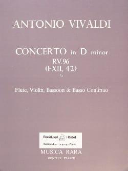 Concerto in D minor RV 96 F. 12 n° 42 - Flute violin bassoon BC laflutedepan