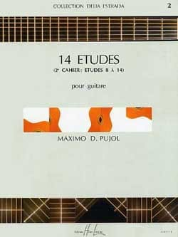 Maximo Diego Pujol - 14 Etudes - 2nd Book - Guitar - Sheet Music - di-arezzo.co.uk