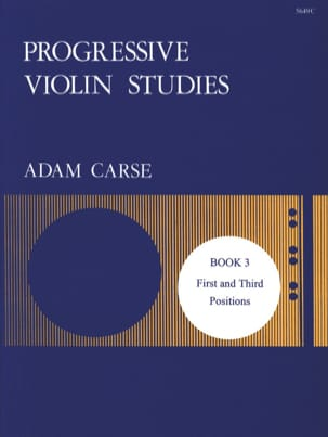 Adam Carse - Progressive violin studies - Book 3 - Partition - di-arezzo.fr