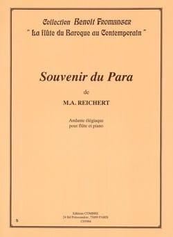Souvenir du Para Mathieu André Reichert Partition laflutedepan