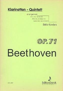 BEETHOVEN - Klarinetten-Quintett op. 71 - 5 Klarinetten - Partition - di-arezzo.fr