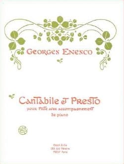 Georges Enesco - Cantabile et Presto - Partition - di-arezzo.fr
