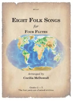8 Folk Songs for 4 Flutes - Partition - laflutedepan.com