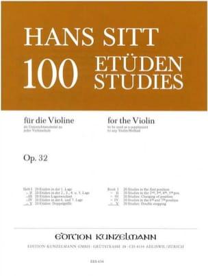 Hans Sitt - 100 studi su op. 32 - Libro 5 - Partitura - di-arezzo.it