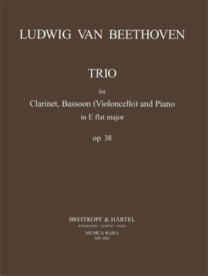 BEETHOVEN - Trio E flat major op. 38 - Clarinet, Bassoon Violoncello piano - Partition - di-arezzo.fr