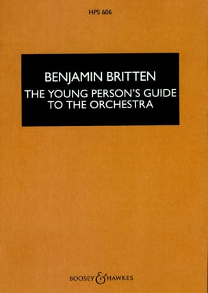 Benjamin Britten - The young person's guide to the orchestra - Score - Partition - di-arezzo.fr