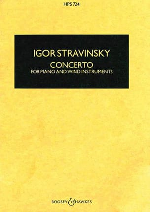 Igor Stravinsky - Concerto for piano and wind instr. – Score - Partition - di-arezzo.fr