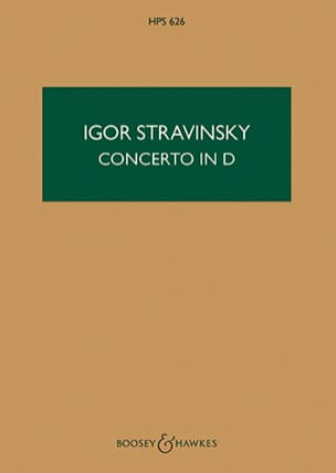 Igor Stravinsky - Concerto in D for string orch. – Score - Partition - di-arezzo.fr