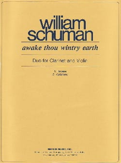 William Schuman - Awake thou wintry earth - Partition - di-arezzo.fr