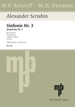 Alexandre Scriabine - Symphonie Nr. 3 c-moll op. 43 - Partitur - Partition - di-arezzo.fr