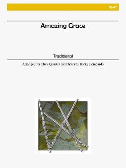 Amazing Grace - Flute quartet or choir Traditionnel laflutedepan