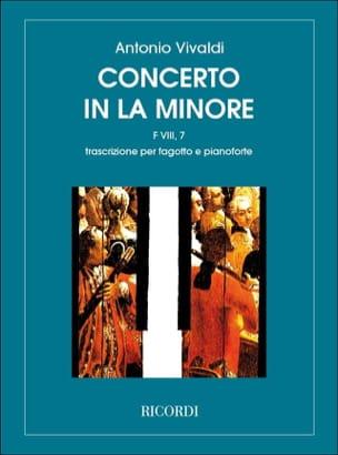 Concerto en la min. - F. 8 n° 7 - Basson/Piano VIVALDI laflutedepan