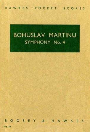 Bohuslav Martinu - Symphonie n° 4 – Score - Partition - di-arezzo.fr