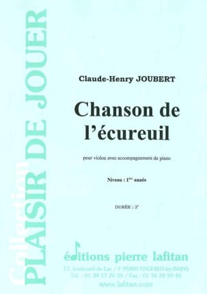 Claude-Henry Joubert - Song of the squirrel - Sheet Music - di-arezzo.co.uk