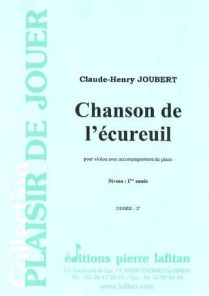 Claude-Henry Joubert - Chanson de l'écureuil - Partition - di-arezzo.fr