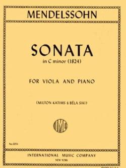 Sonate en DO mineur MENDELSSOHN Partition Alto - laflutedepan