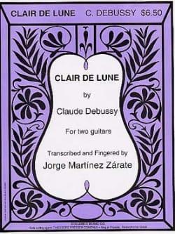 Clair de lune - 2 guitares DEBUSSY Partition Guitare - laflutedepan
