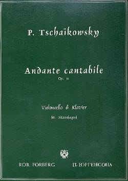 TCHAIKOVSKY - Andante Cantabile Op. 11 - Sheet Music - di-arezzo.co.uk