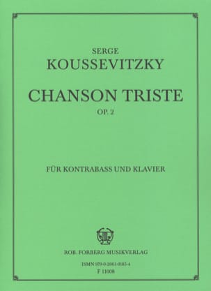 Serge Koussevitzky - Sad song op. 2 - Sheet Music - di-arezzo.co.uk